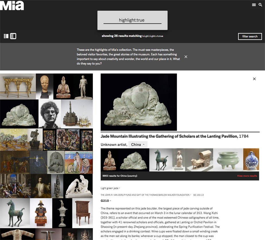 Collections intermediate detail page