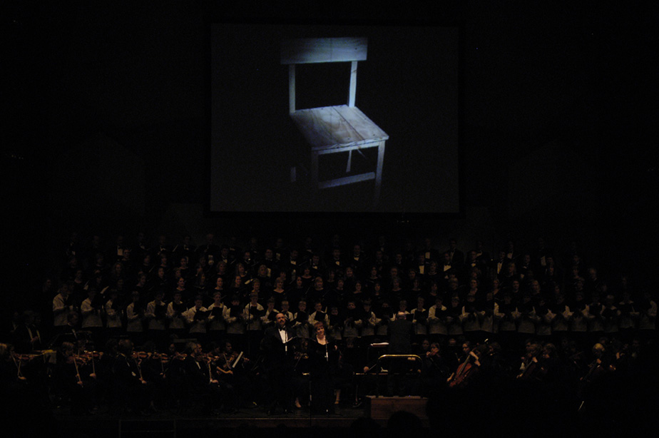 Video of the chair being built during the performance